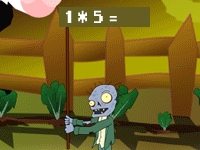 Флеш игра Ботан убийца зомби