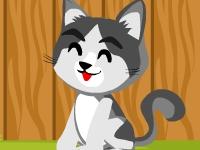 Флеш игра Брось коту еды