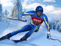 Флеш игра Быстрый спуск на лыжах