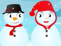 Флеш игра Целующиеся снеговики