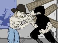 Флеш игра Чак Норрис - атака на ниндзя