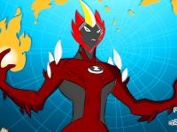 Флеш игра Человек-Огонь: Раскраска