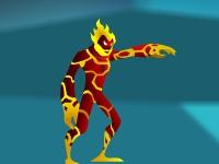 Флеш игра Человек-огонь против монстров