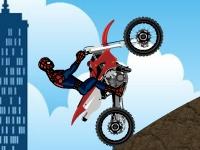 Флеш игра Человек-паук в гонке на мотоцикле