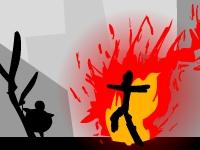 Флеш игра Человек-пламя