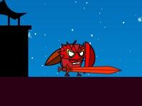 Флеш игра Человек-яблоко уничтожает замок жуков