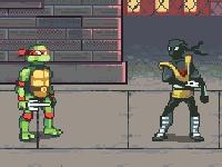 Флеш игра Черепашки ниндзя: Двойной урон