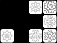Флеш игра Черно-белые фигуры