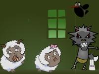 Флеш игра Черный волк хочет овец 2