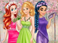 Флеш игра Цвет весенних платьев для принцесс