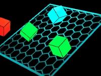 Флеш игра Цветные неоновые кубики