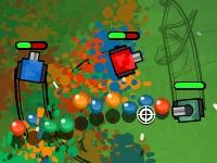 Флеш игра Цветные танки