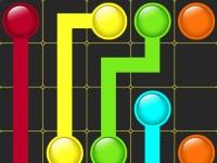 Флеш игра Цветные точки и линии