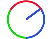 Флеш игра Цветные часы