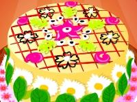 Флеш игра Цветочный торт