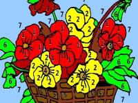 Флеш игра Цветы в корзине