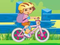 Флеш игра Даша Путешественница: Гонка на велосипеде