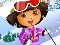 Флеш игра Даша на лыжном трамплине
