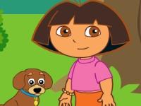 Флеш игра Даша путешественница дрессирует щенка