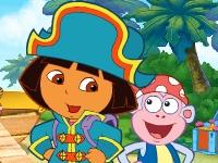Флеш игра Даша путешественница на корабле пиратов