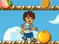 Флеш игра Даша путешественница собирает фрукты