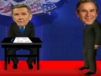 Флеш игра Дебаты: Буш против Керри
