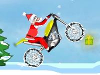Флеш игра Дед Мороз на байке