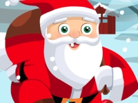 Флеш игра Дед Мороз на коньках