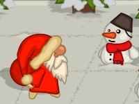 Флеш игра Дед Мороз против снеговика