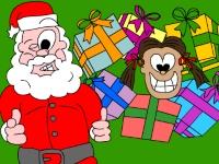 Флеш игра Дед Мороз везет подарки