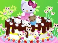 Флеш игра Декорируем торт с Hello kitty