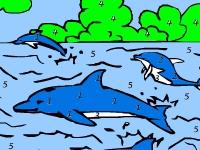 Флеш игра Дельфины в море