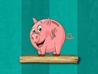 Флеш игра Деньги в копилку