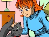 Флеш игра Девушка и кошка