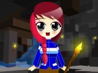 Флеш игра Девушка из Майнкрафт
