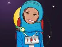 Флеш игра Девушка-космонавт