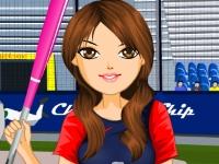 Флеш игра Девушка на бейсболе