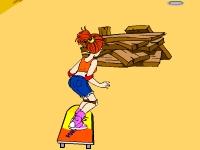 Флеш игра Девушка на скейтборде