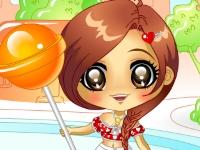Флеш игра Девушка с большой конфетой