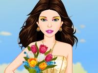 Флеш игра Девушка с цветами