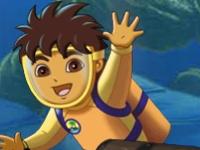 Флеш игра Диего: Найди пару в океане