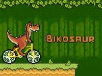 Флеш игра Дино на велосипеде