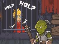 Флеш игра Доблестный рыцарь спасает принцессу