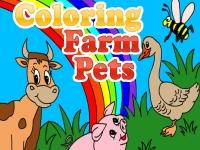 Флеш игра Домашние животные: Раскраска