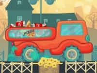 Флеш игра Доставка пиццы на грузовике