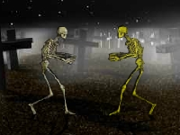 Флеш игра Драка на кладбище