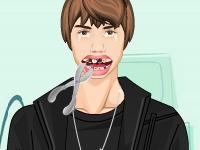 Флеш игра Джастин Бибер у стоматолога