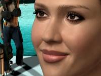Флеш игра Джессика Альба на постере