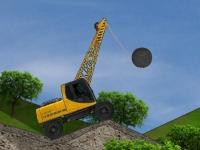 Флеш игра Экскаватор с шаром-бабой 2