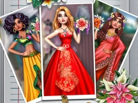 Флеш игра Экзотические свадебные наряды